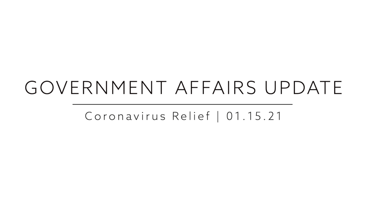 Government Affairs Update   Coronavirus Relief as of 01.15.21 feature image